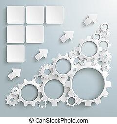 grande, máquina, blanco, engranajes, gráfico,...