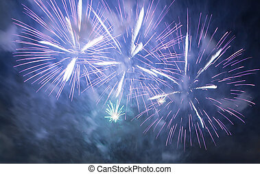 colorful fireworks in the skies