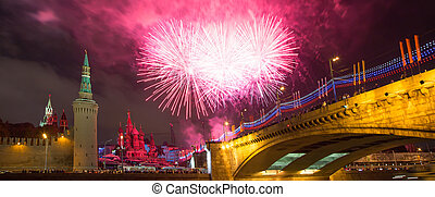 Firework over Moscow Russia