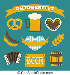 Oktoberfest Icons Collection - A set of flat design icons...
