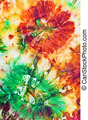 abstract pattern of cold painted batik - abstract flower...