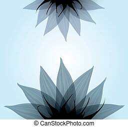 Abstract blue flower Vector illustration eps10