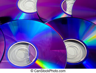 rainbow DVD - Colorful rainbow background made from DVD...