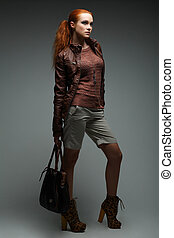 A photo of sexual beautiful girl is in fashion style - A...