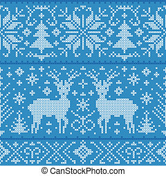 christmas seamless pattern - Vector illustration of...