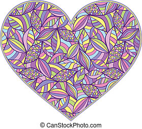 abstract heart - Vector illustration of abstract heart...