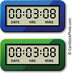 vector LCD counter - countdown timer