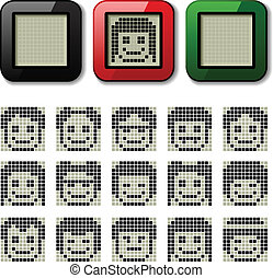 vector LCD display pixel faces