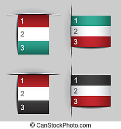 vector blank attached paper fictional flags