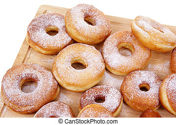doughnut - fresh and warm doughnuts isolated on white...