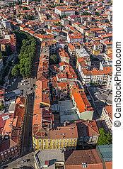 Aerial panorama of Pula