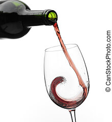 Isolated close shot of pouring wine