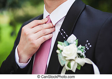 Groom set the bowtie straight