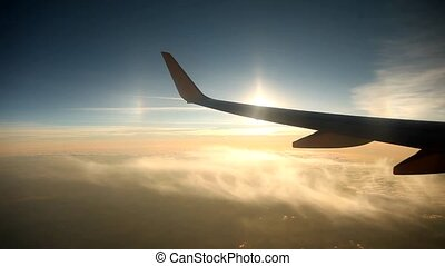 Timelpase, Airplane - timelapse video footage of a flying...