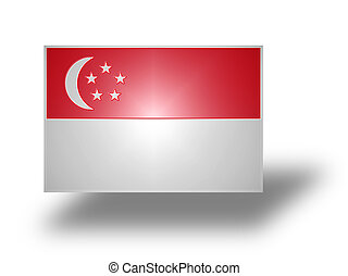 Flag of Singapore stylized I - Civil and state flag of...