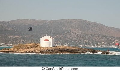 Island, Greece - video footage of a coastline in Crete,...