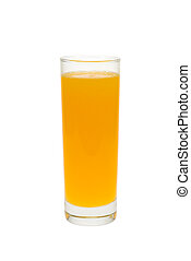 fresh orange juice isolated on white