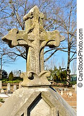 Fleur de lis cross - Classic fleur de lis cross statue...