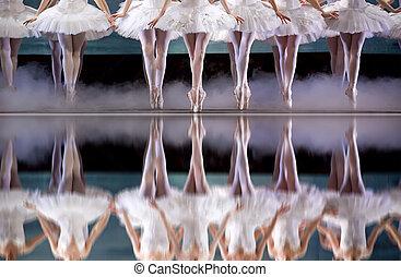 legs of ballerina - ballerinas perform on stage