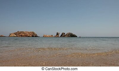 Coast, Crete, Greece - video footage of a coastline in...