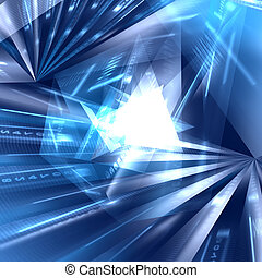 Abstract geometric blue background - Abstract blue digital...
