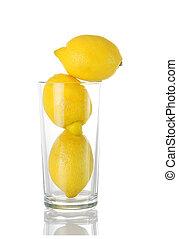 glas,  lemons