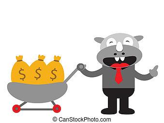 Rhino Businessman