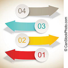 Set of banners Infographic design