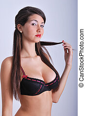Flirt woman in bra - Flirt in bra