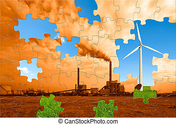 environmental puzzle - the puzzle to make this world a...