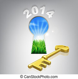 Key to your future 2014 concept