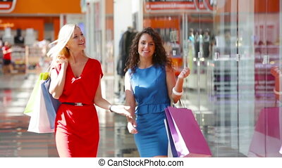 Exciting sales - Lovely friends being excited about shopping...
