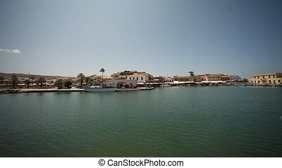 Rethimnon-Hafen - port of Rethimnon, Crete, Greece, August...
