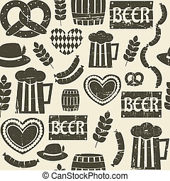 Oktoberfest Background - Seamless repeat pattern for...