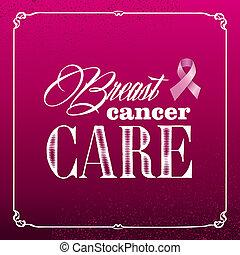 Breast cancer awareness ribbon vintage frame banner EPS10 file.