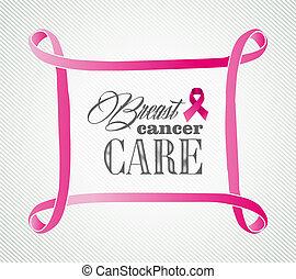 Breast cancer awareness concept frame illustration EPS10...