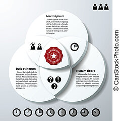Infographics with three overlapping circles - Infographics...