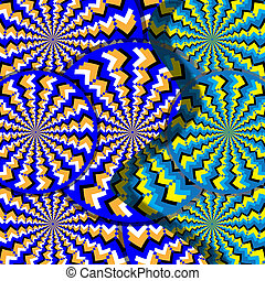 Split-level Wheelies - Rotating patterns are featured in an...