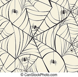 Happy Halloween spider webs seamless pattern background. EPS10 Vector file organized in layers for easy editing.
