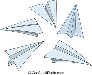 Cartoon paper planes
