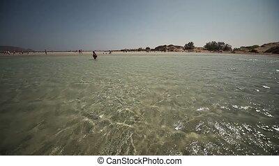 Elafonisi Beach, Crete, greece - beach of Elafonisi in...