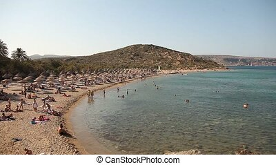 Vai Beach, Crete, Greece - palm beach of Vai in Crete,...