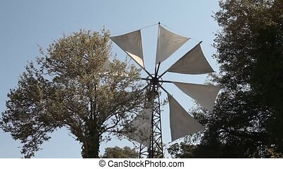 Windmill, Crete, Greece - typical windmill Tourist Feature...