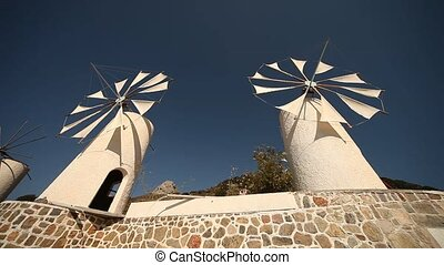 Windmill, Crete, Greece - typical windmill (Tourist Feature)...