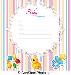 Baby Shower Card Template. CMYK colors