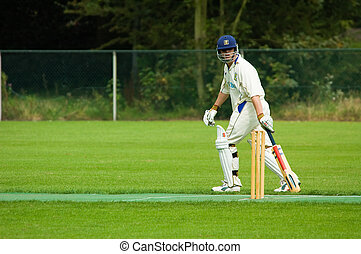 man playing cricket  - a man playing cricket