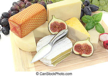 great variety of cheeses - great selection of cheese with...