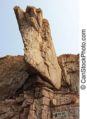 stone axe - large stone axe, photo taken in changdao island,...