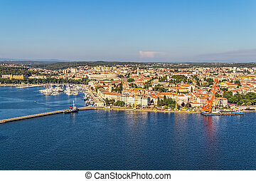Pula - Aerial view of Pula, Istria, Croatia