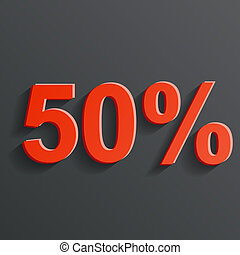 vector icon of the 50%